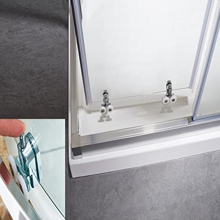 Puerta corredera fácil de montar, puerta de esquina, cabina de ducha, estructura bien diseñada, impermeable, uso de por vida, entrega rápida.: Amazon.es: Bricolaje y herramientas