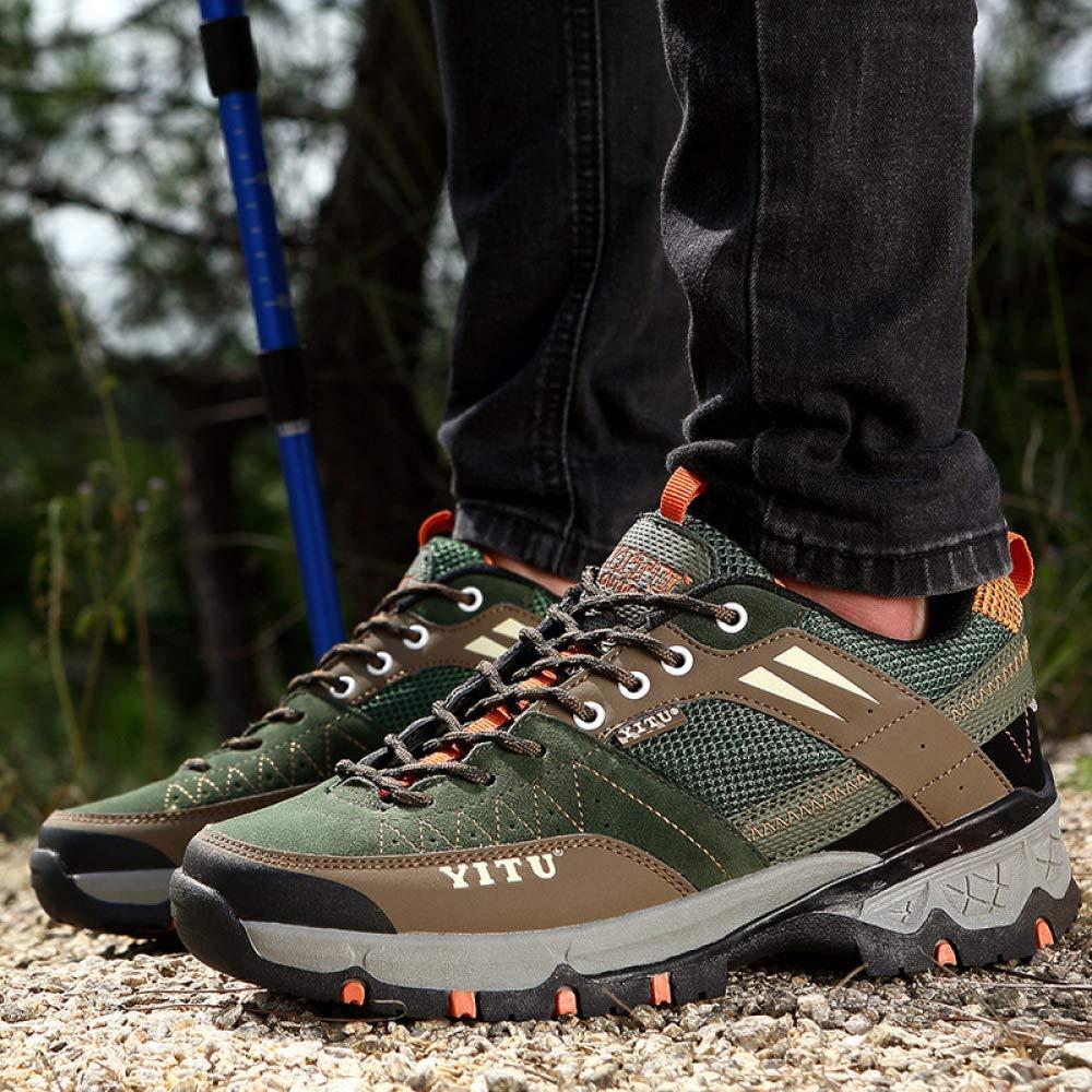 DSFGHE Men's Mesh Hiking Shoes Lightweight Waterproof Non-Slip Walking Wearable Walking Non-Slip Explorer Sneakers 42|Armygreen B07H17DKWV 25a98d
