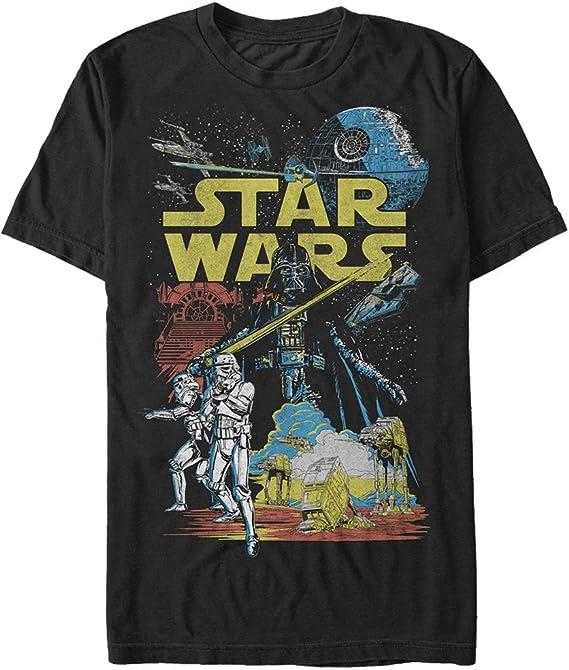 STAR WARS Mens Rebel Classic Graphic T Shirt Shirt