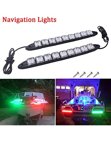 Navigation Lights Pole Stainless Steel Combined Red Green Black Mast NAVPSBP