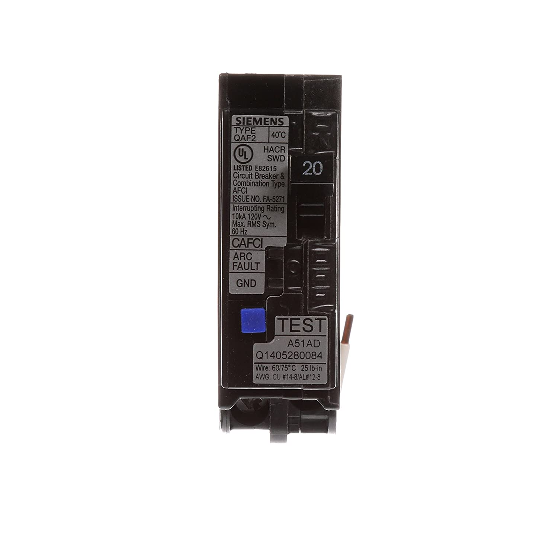 Siemens Qa120afc 20 Amp Single Pole 120 Volt Plug On Combination Shop Square D Qo 20amp Singlepole Circuit Breaker At Lowescom Afci