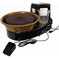 "U.S. Art Supply 3/4-HP Table Top Pottery Wheel with LCD Wheel Speed Display - Includes Foot Pedal and 11"" Bat - Reversible Spin Direction - Ceramics Clay Pot, Bowl, Cup, Art"