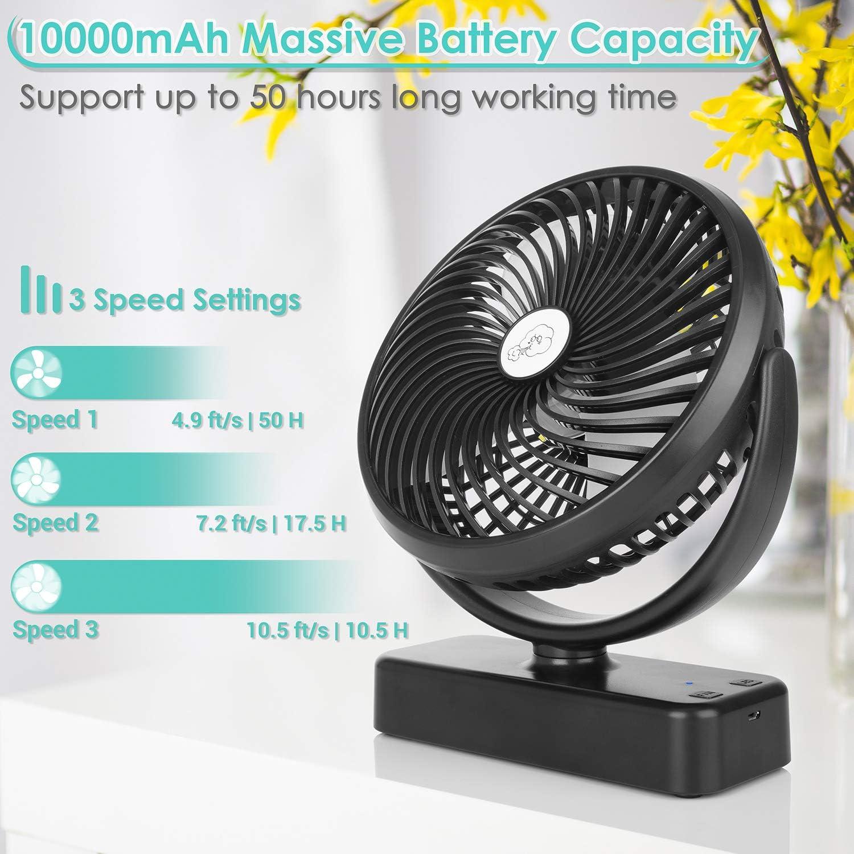 portable fan in black color