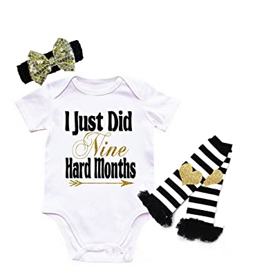 7e51c29c9ce46 Amazon.com: G&G - Cute Glitter Baby Girl 3pc Outfit Infant Clothing ...