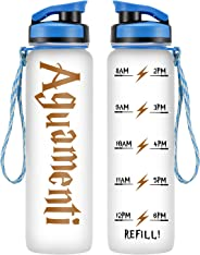 LEADO 32oz 1Liter Motivational Water Bottle w/Time Marker - Aguamenti, HP Merchandise - Funny Mothers Day, Potterhead Birthd