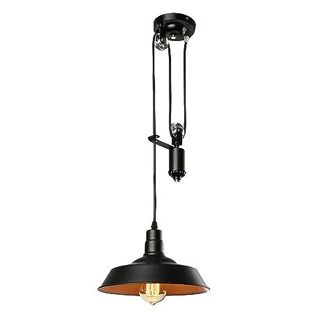 Jinguo Lighting Bright Adjustable Pulley Light Fixture Pendant