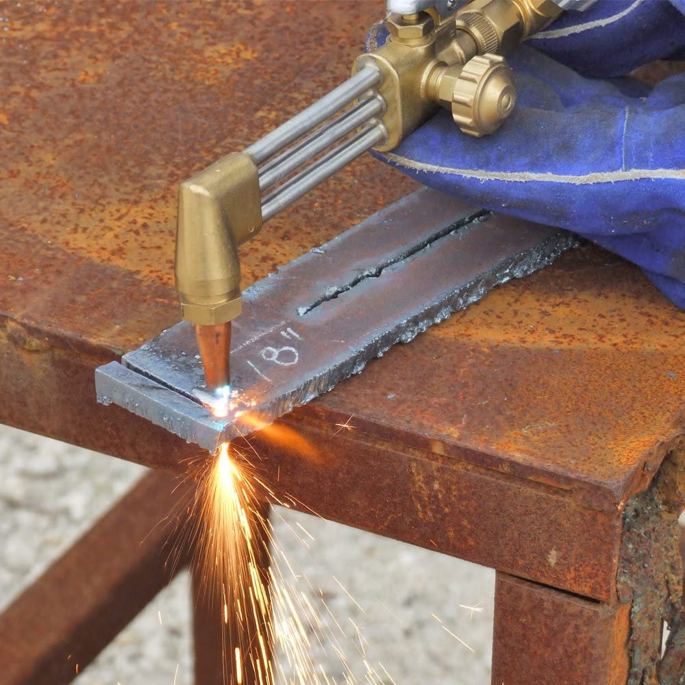 Braze and Cut Outfit with 500S Metal Carrying Stand and Tanks Uniweld KL71-4C-T Patriot Weld
