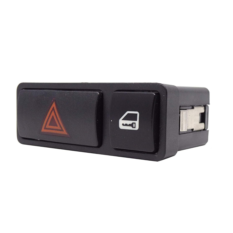 Bot/ón interruptor de emergencia intermitente intermitente 4 flechas compatible con c/ódigo OEM 61318368920 P57O