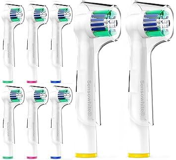 sensowhite® Compatible con Oral B – Cabezales para cepillo de dientes eléctrico (8 unidades