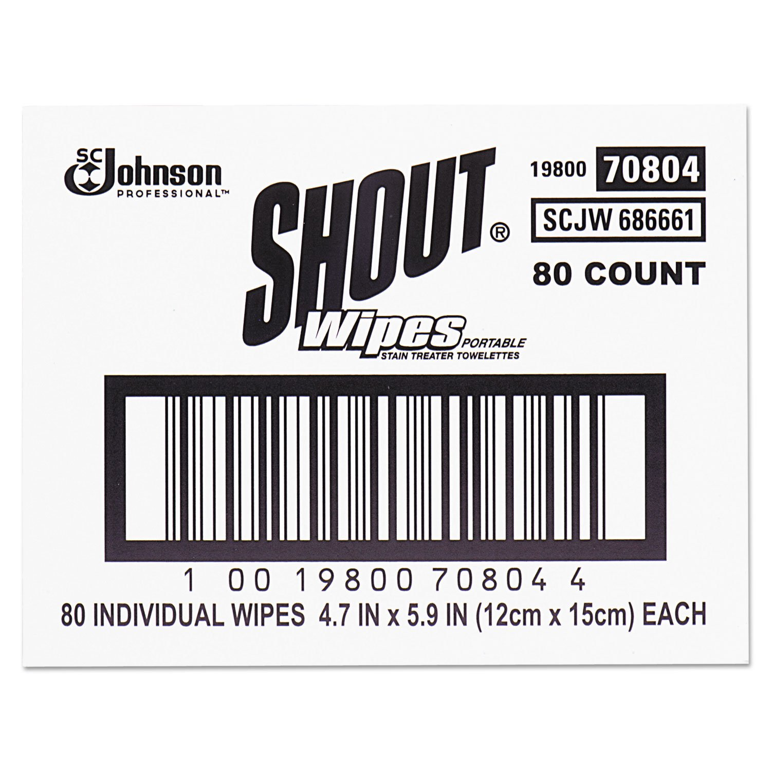 Shout Instant Stain Remover Towelette Wipes (80 count)
