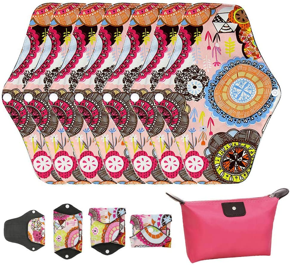 LIVEHITOP Almohadilla Menstrual Reutilizables - 7 Pieza Compresa ...