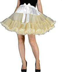 52801c5034b0 YSJ Women's Pettiskirt 3-Layered Tutu Chiffon Petticoat Pleated Mini Skirt