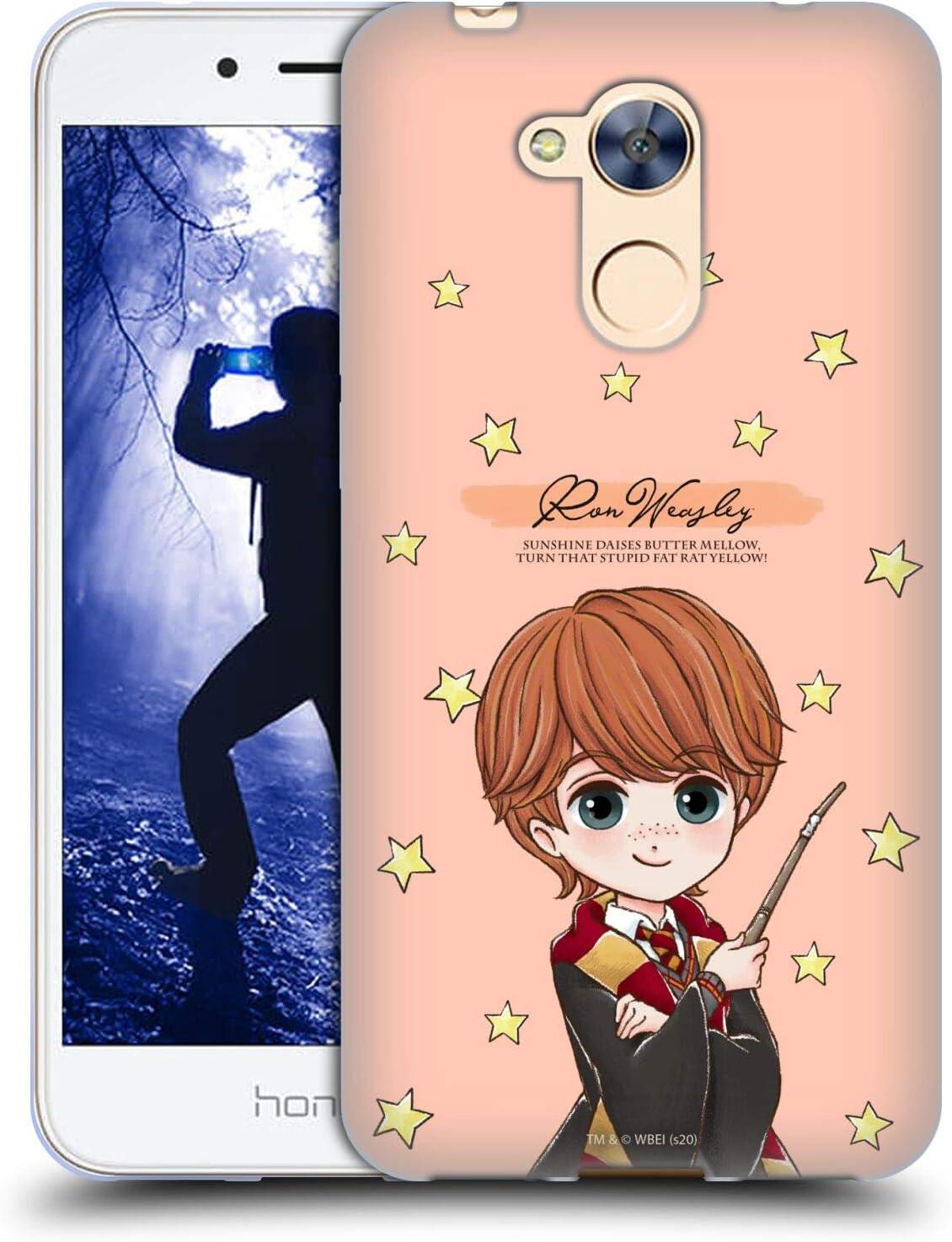 Head Case Designs Oficial Harry Potter Ron Weasley Reliquias de la Muerte XXXVII Carcasa de Gel de Silicona Compatible con Huawei Honor 6A