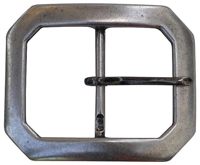 5d31ad661e9a Fronhofer Boucle de ceinture argentée classique, boucle à griffe, boucle  argentée 5 cm pour
