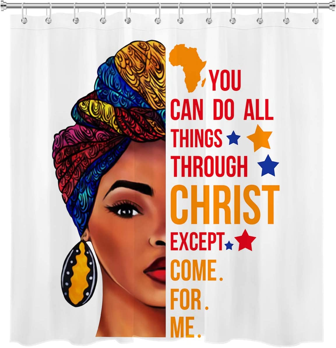 hvest african american woman with quotes shower curtain black girl tribal woman shower curtain black girl shower curtains for bathroom decor 72w x