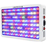 Growstar 600W LED Grow Light Full Spectrum for Dense Flowers/Hydroponics/Indoor Veg/Greenhouse(12 Bands,5Wx120pcs Leds)