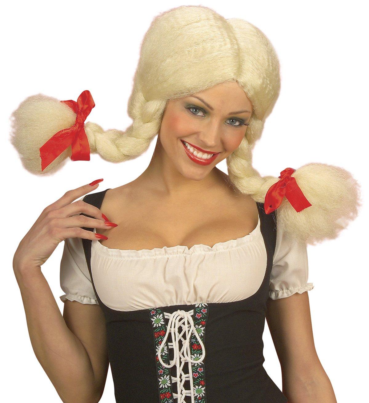 WIDMANN b6357 peluca Heidi, talla única: Amazon.es: Juguetes y juegos