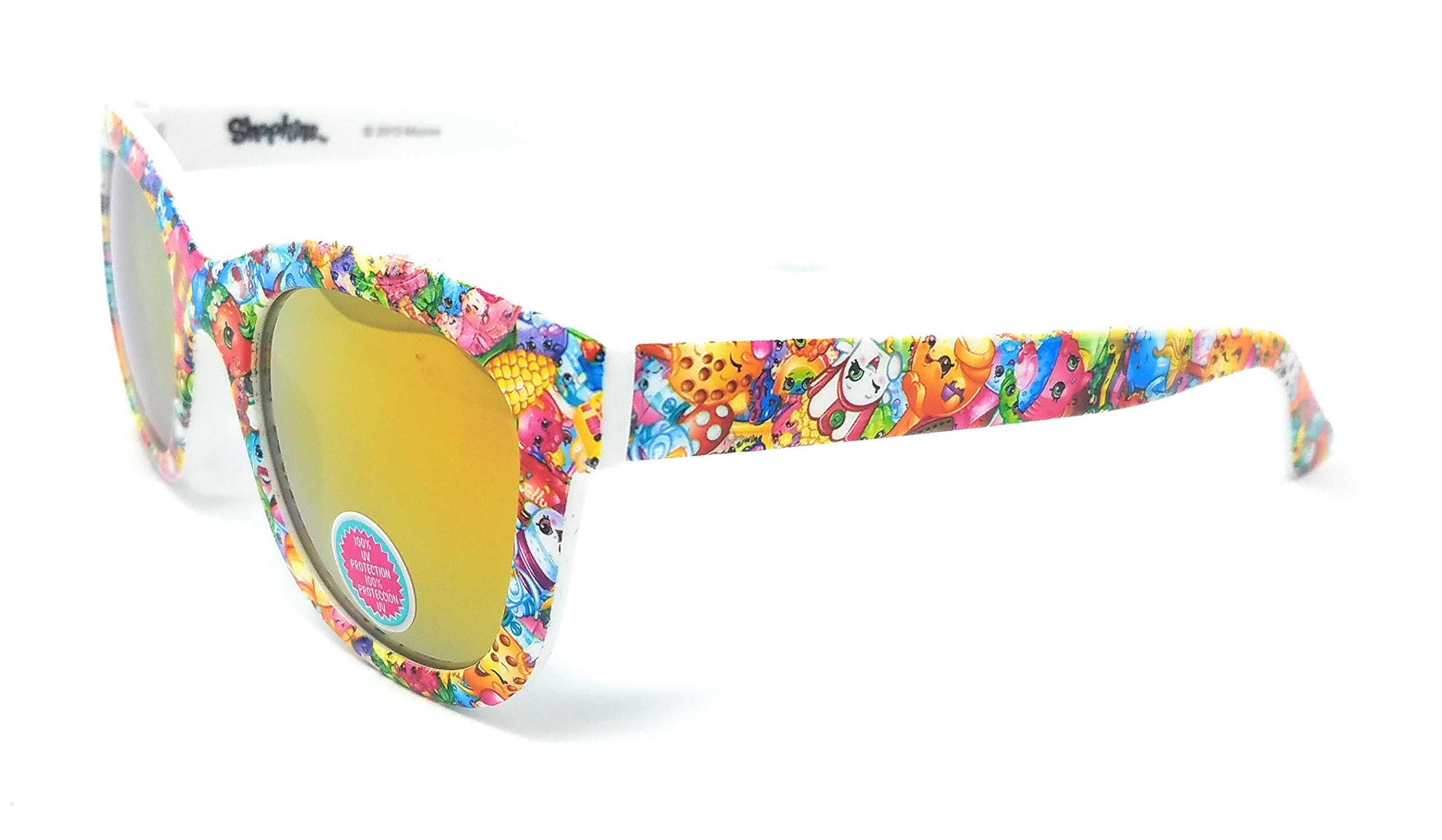 Shopkins Girl's Sunglasses in White with All Characters 100% UV Protection