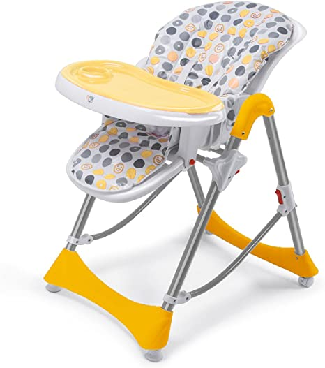Baby Vivo Baby Highchair Feeding Seat Adjustable Height Double Tray Recline Foldable Tippy Orange Different Colors Available