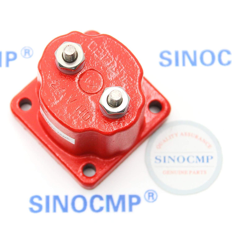 SINOCMP Diesel Fuel Shut Off Down Solenoid for Cummins K19 NT855 3 Month Warranty 3054609 3054610 4024809 Stop Solenoid Valve 24V