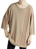 (モノマート) MONO-MART ビッグシルエット 7分袖 サマーニット ケーブル編み フィッシャーマン BIG cotton100% MODE メンズ