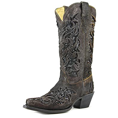 97644666e2d CORRAL Women's Sequence Inlay Western Boots