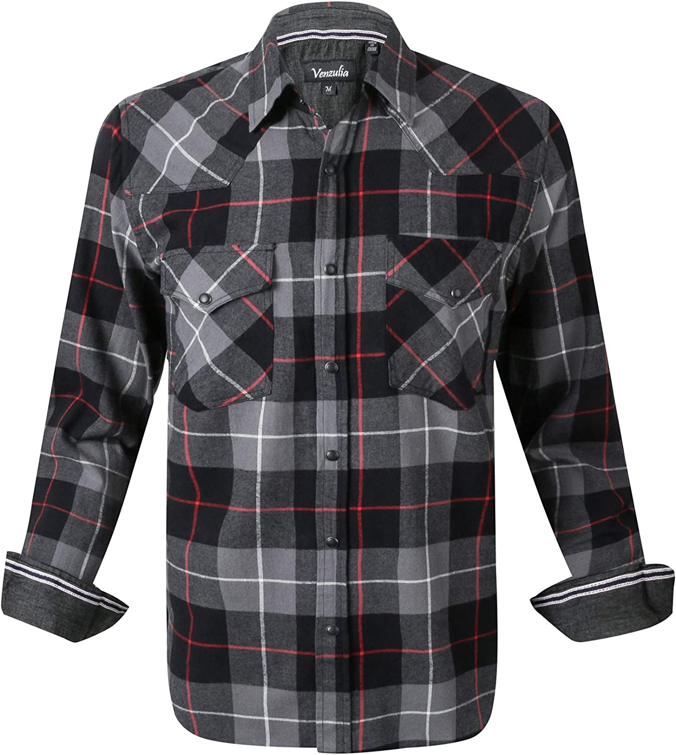 Men's Western Casual Shirt Two Pocket Long Sleeve Snap Shirt