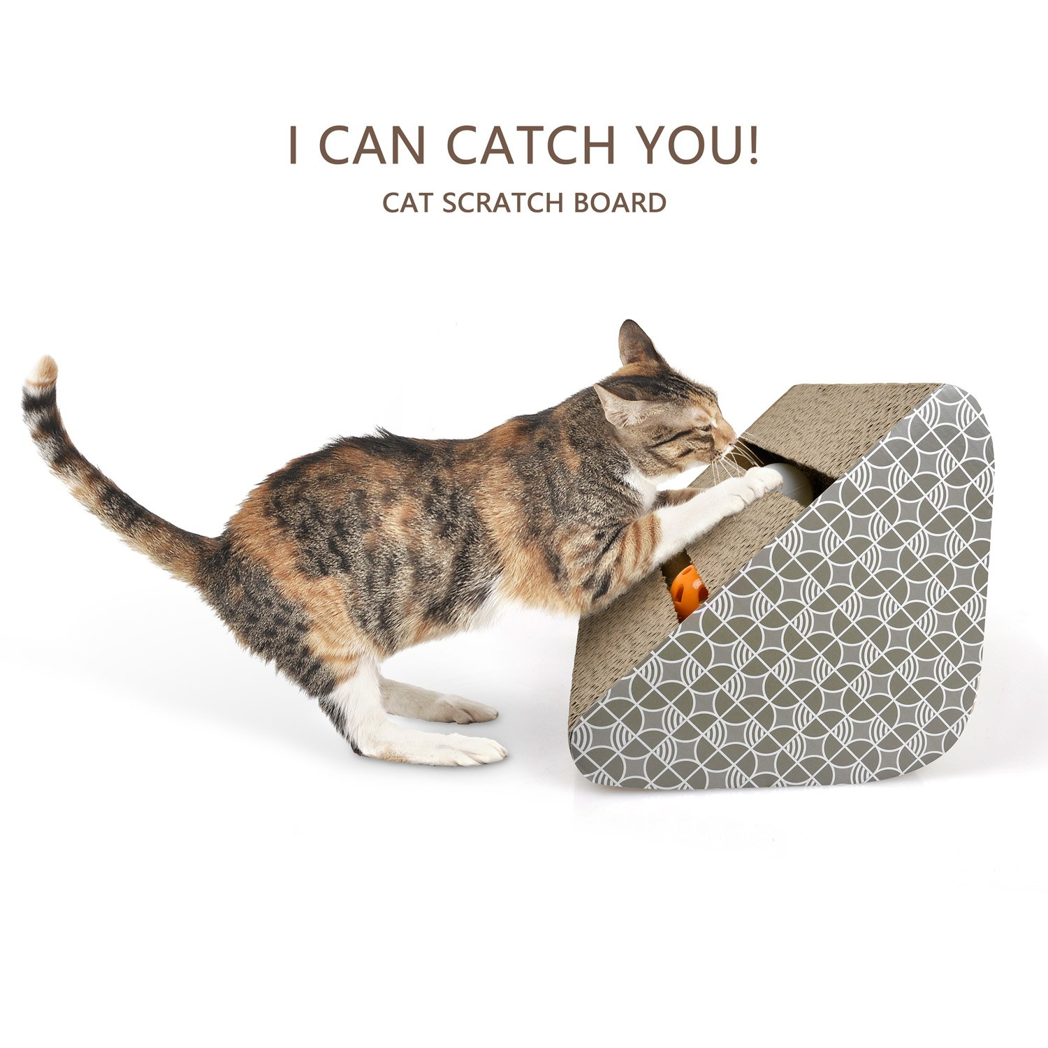 Cat Scratching Pads with Inside bell-Balls and Free catnip