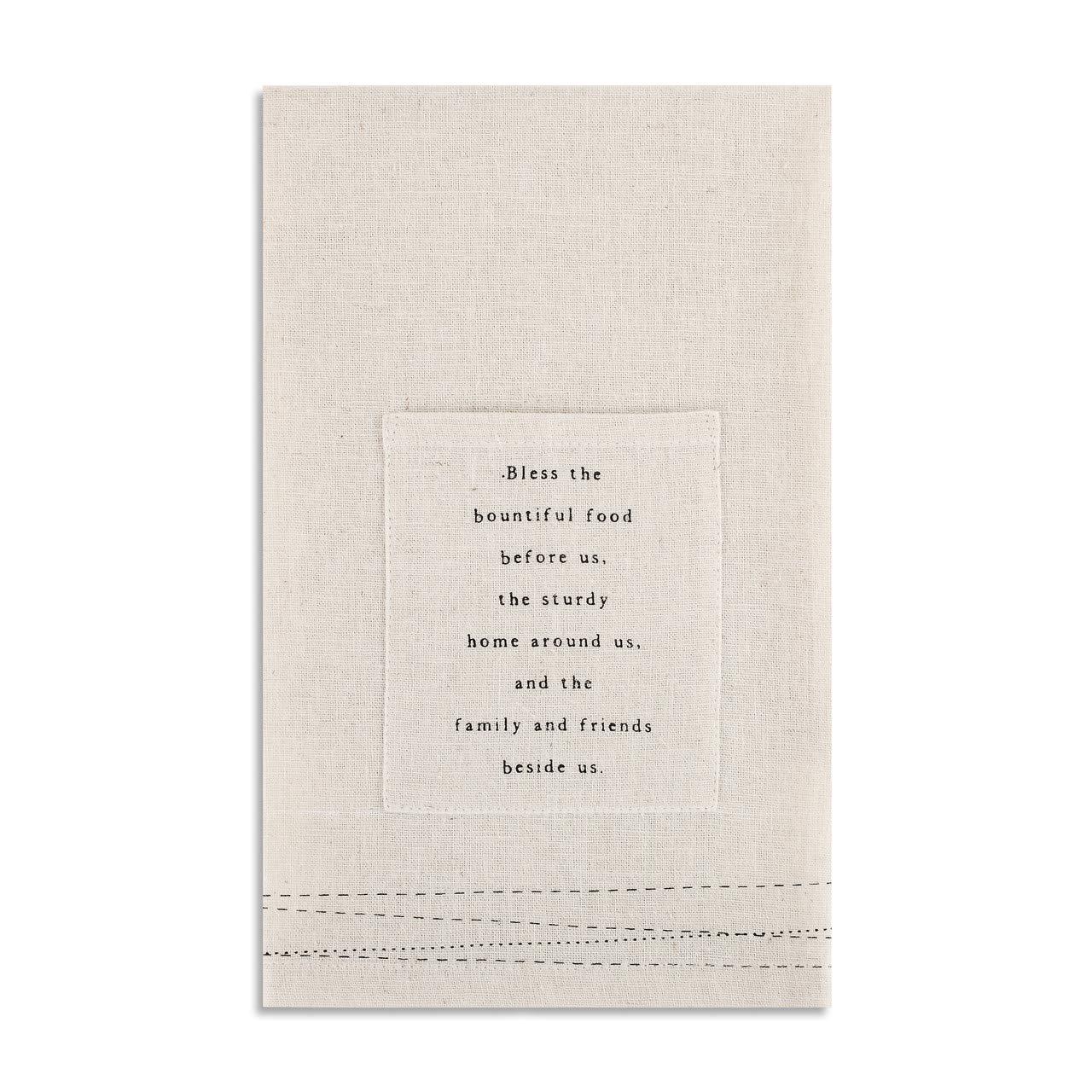 Blessings クリーム 18 x 18 コットン生地 キッチン用具 ポケット 布ナプキン 2枚セット   B07MZCN2SV
