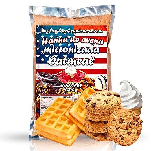 American Suplement - Harina de Avena Micronizada - 1kg (COOKIES): Amazon.es: Salud y cuidado personal
