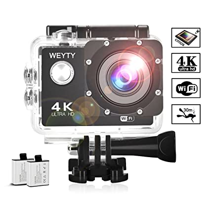 05706eaf7577 Action Camera WeyTy X6S 4K 30m Underwater Camera 16MP Wifi Sport Camera 170°Wide  Angle
