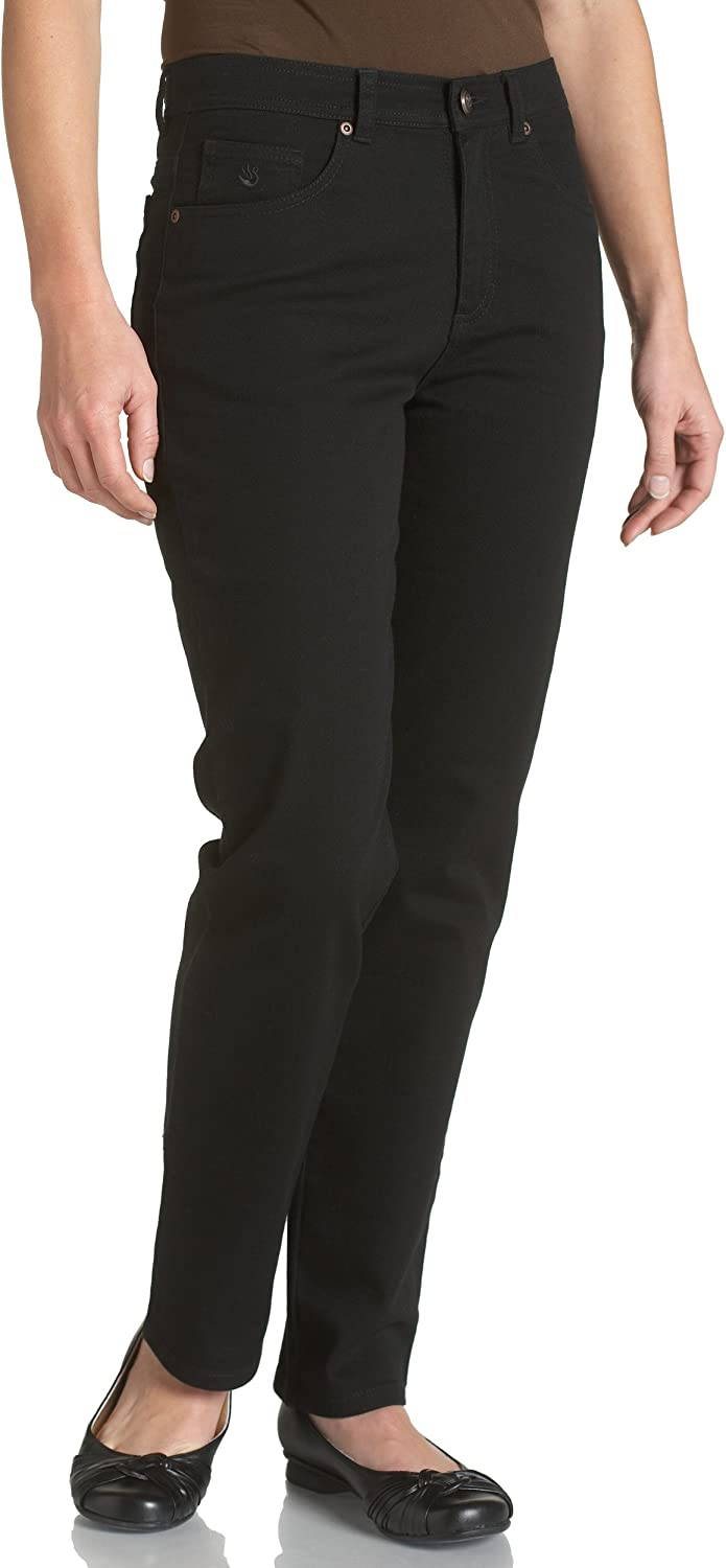 Gloria Vanderbilt womens Amanda Classic High Rise Tapered Jeans, Black, 8 Petite US: Clothing
