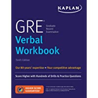 GRE Verbal Workbook: Score Higher with Hundreds of Drills & Practice Questions (Kaplan Test Prep)
