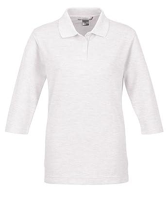 25fe5ce98 Women s 60 40 Pique 3 4 Sleeve Golf Shirt at Amazon Women s Clothing store  Polo  Shirts