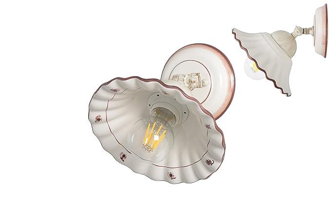 Vanni lampadari lampada parete orientabile in ceramica decorata