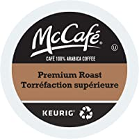 McCafe Premium Roast Medium Dark Single Serve Keurig Certified Recyclable K-Cup pods for Keurig Brewers, 48 Count