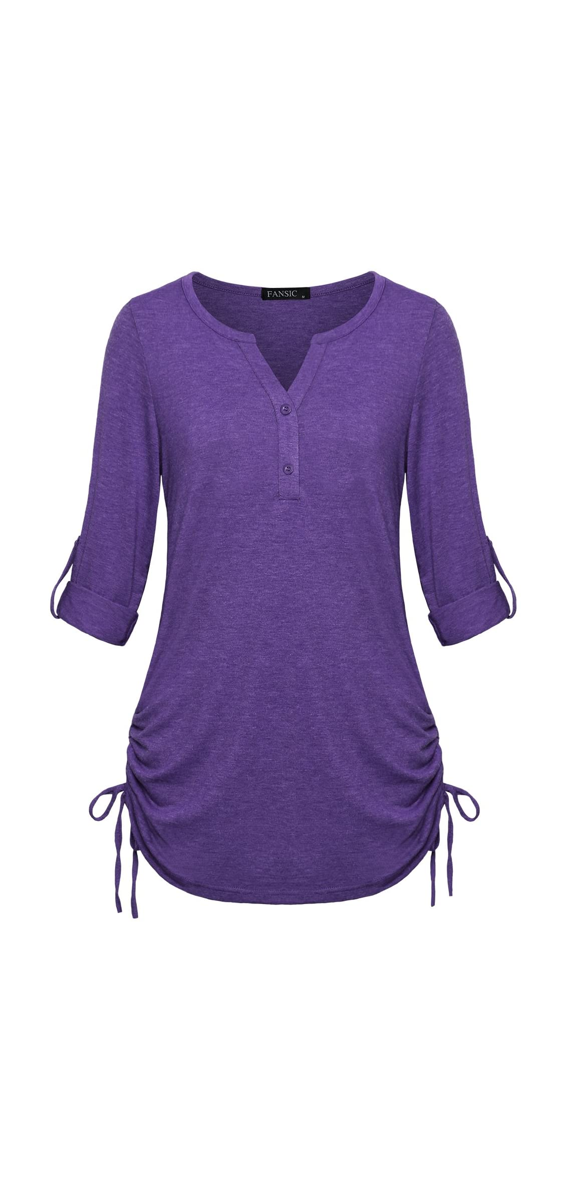 Womens Casual Long Sleeve Blouse Tops,/ Sleeves Sides