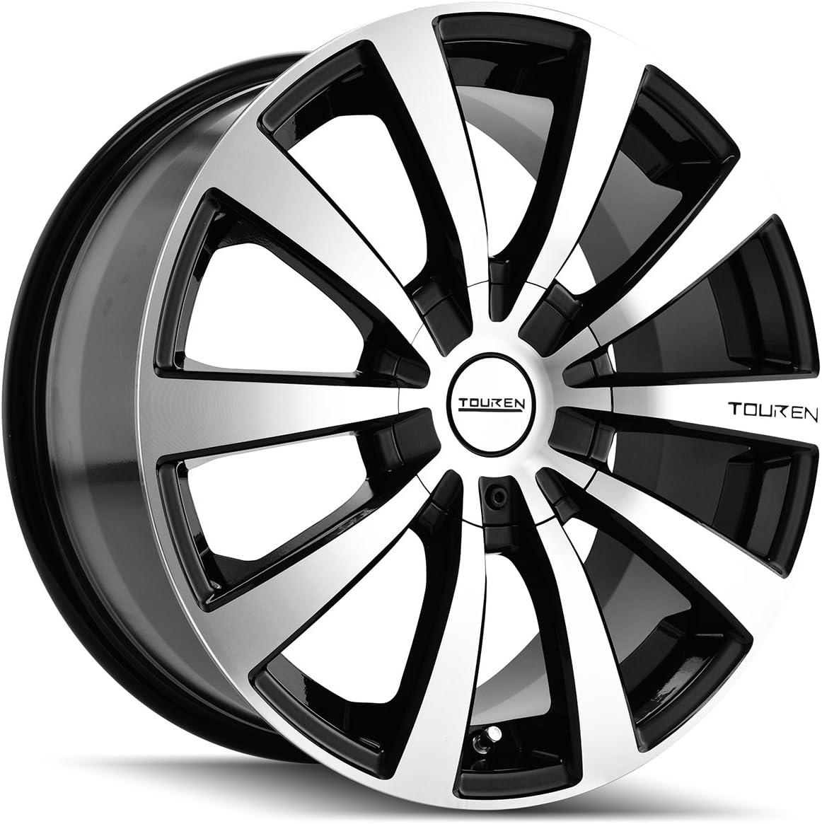 Touren TR3 3130 Black Wheel with Machined Face//Lip 17x7//5x110mm