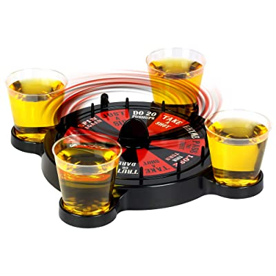 Barbuzzo Roulette Shots Drinking Game - Vegas Themed Party Game: Kitchen & Dining