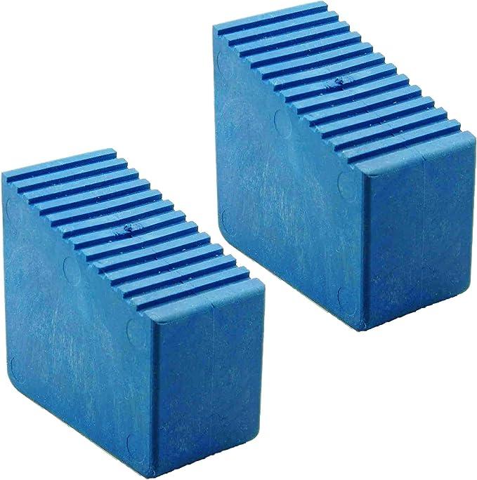 Pies de goma para escaleras de madera, 2 unidades 3 – 8 travesaños Tamaño interior 56 x 23 mm Azul HB40: Amazon.es: Bricolaje y herramientas