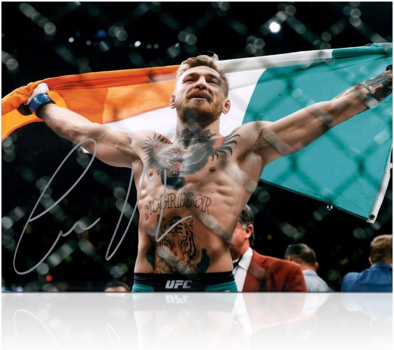 Conor McGregor Firmado Foto: UFC 194 Victory: Amazon.es: Deportes y aire libre