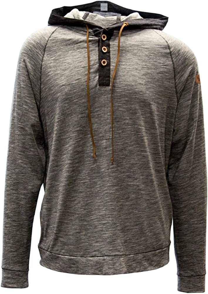Heather Grey Levelwear LEY9R Adult Men Anchor Static Pullover Hoodie Large