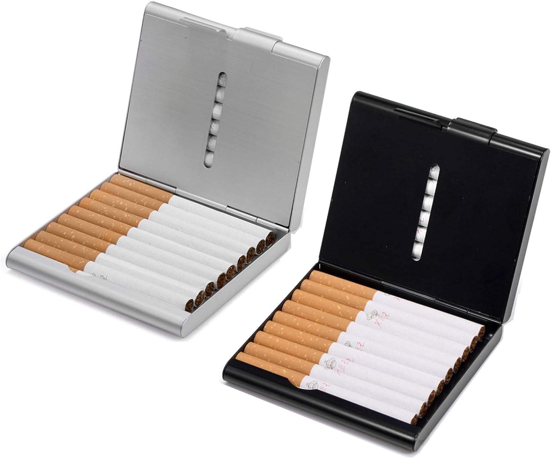 . sicuro e comodo per evitare che la sigaretta si rompa 1 portasigarette extra sottile in acciaio inox argento