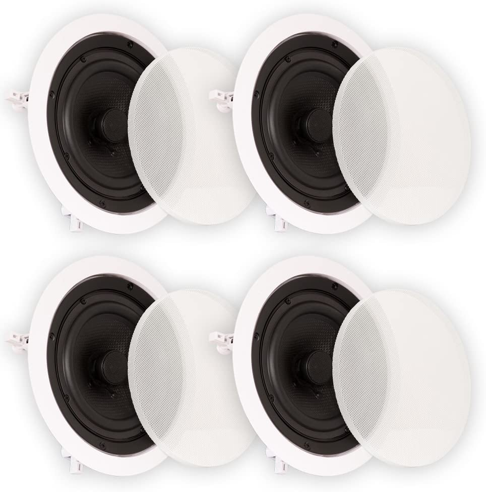 "Theater Solutions TS65C in Ceiling 6.5"" Speakers Surround Sound Home Theater 2 Pair Pack"