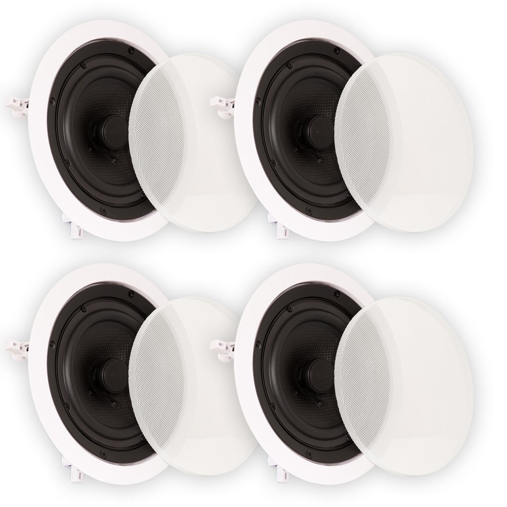 Theater Solutions TS65C In Ceiling 6.5'' Speakers Surround Sound Home Theater 2 Pair Pack by Theater Solutions