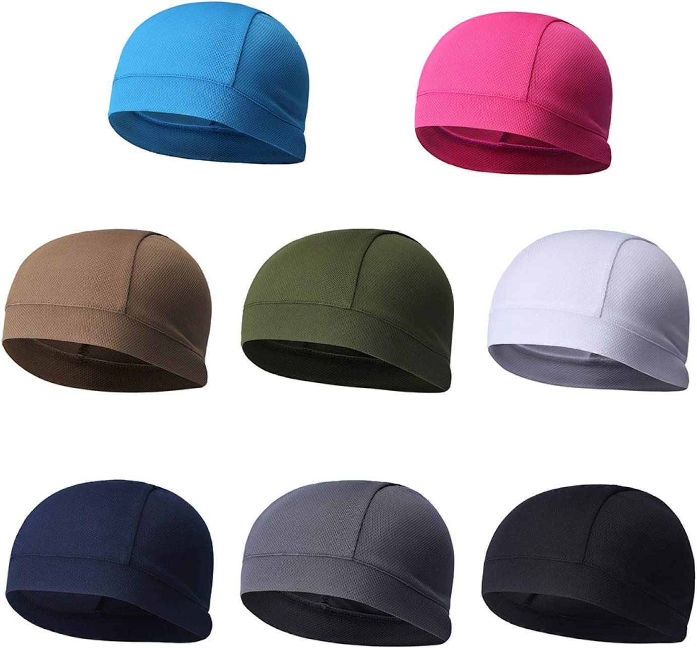 Z/&I Professional Summer Absorb Sweat Breathable Elastic Riding Skull Cap Solid Color Outdoor Sport Quick-Dry Cycling Cap for Women Men