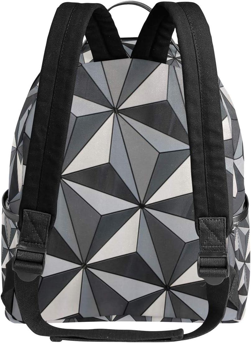 Backpack Earth Triangles Mens Laptop Backpacks Shoulder Hiking Daypack