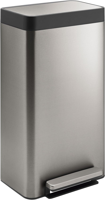 Kohler K-20941-ST 8-Gallon Loft Stainless Step Trash Can, Stainless Steel