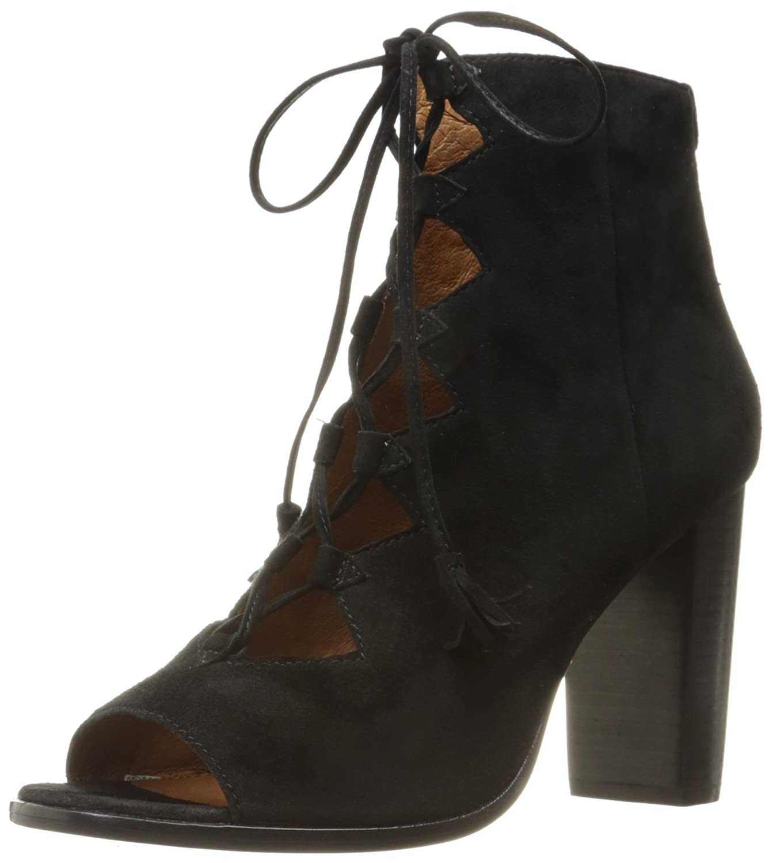 Frye Women's Gabby M Ghillie Dress Sandal 6 M Gabby US Black Suede B01JV6919E a19005