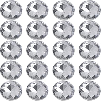 25 Piece Crystal Buttons for Sofa Headboard Upholstery Decoration 25mm